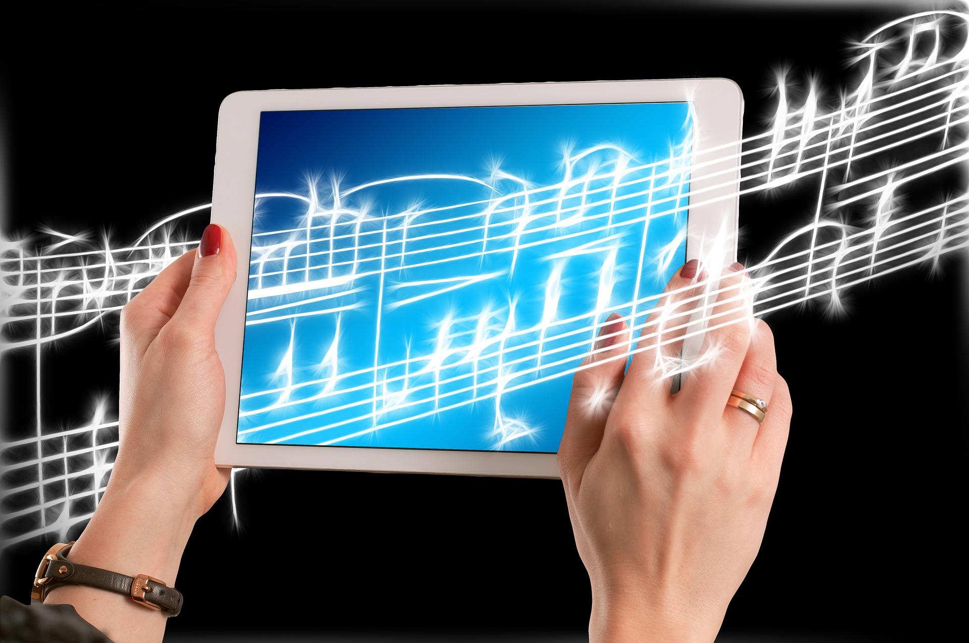 iPad med noter